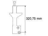 Амортизатор  Амортизатор VW PASSAT 04/88-08/92 пер.масл.(стойка)(с обор.для пл  Параметр: SF30/22X155A Вид амортизатора: давление масла Вид амортизатора: Стойка амортизатора Система амортизатора: двухтрубный