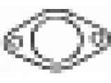 Уплотнительное кольцо, труба выхлопного газа  Прокладка NISSAN