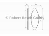 Комплект тормозных колодок, дисковый тормоз  Колодки тормозные FORD ESCORT 90-00 передние  Датчик износа: без датчика износа Толщина [мм]: 17,5 Ширина (мм): 131 Высота [мм]: 57,3 Тормозная система: Bosch