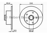 Тормозной диск  Диск торм.зад.A4 1.6-2.8 -01 (DF2771)  Диаметр [мм]: 245 Толщина тормозного диска (мм): 10 Минимальная толщина [мм]: 8 Тип тормозного диска: полный Диаметр ступицы колеса [мм]: 45,2 Число отверстий: 5