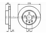 Тормозной диск  Диск торм.пер.вент.VITO (638) (DF2797)  Диаметр [мм]: 276 Толщина тормозного диска (мм): 22 Минимальная толщина [мм]: 19 Тип тормозного диска: с внутренней вентиляцией Диаметр ступицы колеса [мм]: 67 Число отверстий: 5 Обработка: Высокоуглеродистый Дополнительный артикул / Доп. информация 2: с винтами Вес [кг]: 5,9