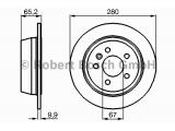 Тормозной диск  Диск торм.зад.VITO (638) (DF2794)  Диаметр [мм]: 280 Толщина тормозного диска (мм): 10 Минимальная толщина [мм]: 8 Тип тормозного диска: полный Диаметр ступицы колеса [мм]: 67 Число отверстий: 5 Поверхность: лакированный Обработка: Высокоуглеродистый Дополнительный артикул / Доп. информация 2: с винтами Вес [кг]: 4,299