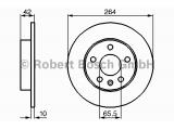 Тормозной диск  Диск торм.зад.ASTRA G/ZAFIRA (DF4051)  Диаметр [мм]: 264 Толщина тормозного диска (мм): 10 Минимальная толщина [мм]: 8 Тип тормозного диска: полный Диаметр ступицы колеса [мм]: 65,5 Число отверстий: 5 Поверхность: лакированный Вес [кг]: 3,66