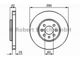 Тормозной диск    Диаметр [мм]: 280 Толщина тормозного диска (мм): 25 Минимальная толщина [мм]: 22 Тип тормозного диска: с внутренней вентиляцией Диаметр ступицы колеса [мм]: 60 Число отверстий: 4 Обработка: Высокоуглеродистый Дополнительный артикул / Доп. информация 2: с винтами