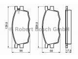 Комплект тормозных колодок, дисковый тормоз  Колодки тормозные HYUNDAI ACCENT/i20/KIA RIO 05- передние  Датчик износа: вкл. датчик износа Толщина [мм]: 17,6 Ширина (мм): 129,9 Высота [мм]: 56 ограничение производителя: Mando System