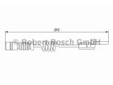 Сигнализатор, износ тормозных колодок  Датчик износа торм.колодок MERCEDES SPRINTER/VITO  Тип тормоза: Дисковой механизм Общая длина [мм]: 210