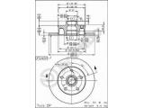 Тормозной диск  (561 620 J) Диск торм зад VW VR6  Тип тормозного диска: полный Диаметр [мм]: 226 Толщина тормозного диска (мм): 10 Минимальная толщина [мм]: 8 Высота [мм]: 71,2 Диаметр центрирования [мм]: 39,8 Количество отверстий: 5 Момент затяжки [Нм]: 11