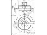 Тормозной диск    Тип тормозного диска: полный Диаметр [мм]: 270 Толщина тормозного диска (мм): 10 Минимальная толщина [мм]: 8,6 Высота [мм]: 62,7 Диаметр центрирования [мм]: 63,6 Количество отверстий: 4 Момент затяжки [Нм]: 10