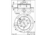 Тормозной диск  Диск тормозной MITSUBISHI LANCER 1.3/1.6/2.0 01>/GALANT 1.8/2.0 9  Тип тормозного диска: полный Диаметр [мм]: 262 Толщина тормозного диска (мм): 10 Минимальная толщина [мм]: 8,4 Высота [мм]: 60 Диаметр центрирования [мм]: 90 Количество отверстий: 4