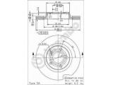 Тормозной диск  Диск тормозной AUDI A4 95>/VOLKSWAGEN PASSAT 97>00 передний вент.  Тип тормозного диска: с внутренней вентиляцией Диаметр [мм]: 280 Толщина тормозного диска (мм): 22 Минимальная толщина [мм]: 20 Высота [мм]: 46,2 Диаметр центрирования [мм]: 68 Материал: бумага Количество отверстий: 5 Момент затяжки [Нм]: 12