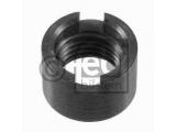 Резьбовая втулка, стойка амортизатора  Втулка стабилизатора VW M14x1,5мм  Толщина [мм]: 13 Внешний диаметр [мм]: 19,5 Внутренняя резьба [мм]: M 14 x 1,5 Сторона установки: передний мост Вес [кг]: 0,016 необходимое количество: 2