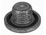 Резьбовая пробка, маслянный поддон  Болт поддона сливной M14x1.5mm  Длина [мм]: 13,5 Внешний диаметр [мм]: 25 Внешняя резьба [мм]: M 14 x 1,5 Длина резьбы [мм]: 10 Профиль головки болта: внутренний Torx Материал: сталь Поверхность: оцинкованный Вес [кг]: 0,018 необходимое количество: 1