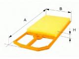 Воздушный фильтр    Форма: угловой Длина [мм]: 317,5 Ширина (мм): 199 Высота [мм]: 44