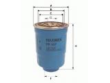 Топливный фильтр  Фильтр топливный MITSUBISHI PAJERO/L200 2.5D/HYUNDAI PORTER/H-1 2  Высота [мм]: 137,5 Размер резьбы: M 20X1,5 Внешний диаметр [мм]: 94 Исполнение фильтра: Фильтр-патрон