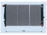 Радиатор, охлаждение двигател  Радиатор двигателя VAG A4 2.4-2.8/2.5TD 97-02  Материал: алюминий Материал: полимерный материал Размеры радиатора: 630 x 395 x 32 mm