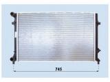 Радиатор, охлаждение двигател  Радиатор двигателя VAG A3 1.4-2.5/2.0D 03-  Материал: алюминий Материал: полимерный материал Размеры радиатора: 650 x 400 x 16 mm