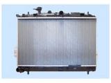 Радиатор, охлаждение двигател  Радиатор двигателя HYUNDAI MATRIX 1.6/1.8 01-  Материал: алюминий Материал: полимерный материал Размеры радиатора: 625 x 360 x 20 mm