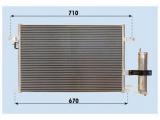 Конденсатор, кондиционер    Хладагент: R 134a Размеры радиатора: 600 x 400 x 20 mm
