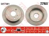 Тормозной диск  Диск тормозной CHEVROLET LACETTI (RUS) 03> задний  Тип тормозного диска: полный Толщина тормозного диска (мм): 10.5 Диаметр [мм]: 257 Ø фаски 2 [мм]: 114,3 Количество отверстий: 4 Минимальная толщина [мм]: 8 Диаметр центрирования [мм]: 60 Высота [мм]: 57,5 Размер резьбы: 12.6