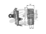 Успокоитель, зубчатый ремень  Натяжитель ремня ГРМ AUDI A4/A6/VW PASSAT B5 1.8/2.0 20V