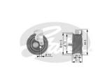 Натяжной ролик, ремень ГРМ  Ролик ремня ГРМ AUDI A4/A6/VW PASSAT B5 95-05 1.8/1.8T