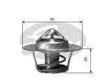 Термостат, охлаждающая жидкость  Термостат AUDI A3 1.8 96- / A6/TT 1.8 T 98-06 / VW GOLF 1.4 03-  Температура открытия [°C]: 88