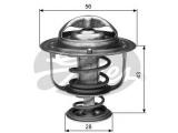 Термостат, охлаждающая жидкость  Термостат TOYOTA AVENSIS 1.8-2.4 03- / CAMRY 2.5-3.0 96-01/01- /   Температура открытия [°C]: 82