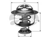 Термостат, охлаждающая жидкость  Термостат MITSUBISHI LANCER 1,3 03-  Температура открытия [°C]: 88