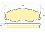 Комплект тормозных колодок, дисковый тормоз    Длина [мм]: 130 Толщина [мм]: 17 Высота [мм]: 49,3 ограничение производителя: AKEBONO Датчик износа: не подготовленно для датчика износа
