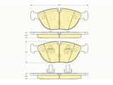 Комплект тормозных колодок, дисковый тормоз  Колодки тормозные AUDI A8/BMW E38/MERCEDES W210/W220 передние  ограничение производителя: ATE Датчик износа: подготовлено для датчика износа колодок проверочное значение: E9 90R 01705/038 Высота [мм]: 73,5 Длина [мм]: 194,5 Толщина [мм]: 20,5
