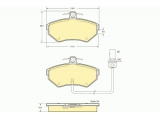 Комплект тормозных колодок, дисковый тормоз  Колодки тормозные AUDI A4 99>01/PASSAT 97>01 с датчиком передние  ограничение производителя: TRW Датчик износа: вкл. датчик износа проверочное значение: E9 90R 01107/089 Высота [мм]: 69,5 Длина [мм]: 119 Толщина [мм]: 19,4