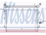 Радиатор, охлаждение двигател  Радиатор двигателя VAG G5 2.0TD 03-  Материал: алюминий Материал: полимерный материал