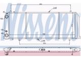 Радиатор, охлаждение двигател  Радиатор двигателя AUDI 100 1.8 85-91  Оснащение / оборудование: для автомобилей без кондиционера