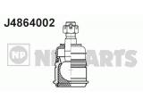 Несущий / направляющий шарнир  Опора шаровая HONDA CIVIC/CR-V 95- нижняя  Внешняя резьба [мм]: M12x1,25 Тип резьбы: с правой резьбой