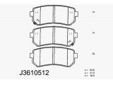 Комплект тормозных колодок, дисковый тормоз  Колодки торм. KIA CEED/RIO 05- зад.  Толщина [мм]: 16 Высота [мм]: 41 Длина [мм]: 93,6