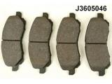 Комплект тормозных колодок, дисковый тормоз  Колодки тормозные MITSUBISHI LANCER 03>/LANCER 07>/GALANT 06>2.4   Толщина [мм]: 15,7 Высота [мм]: 55 Длина [мм]: 144,9