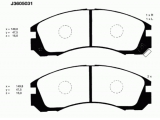 Комплект тормозных колодок, дисковый тормоз  Колодки тормозные MITSUBISHI OUTLANDER 03>/PAJERO 90>00/00> перед  Толщина [мм]: 16 Высота [мм]: 47,5 Длина [мм]: 149,8