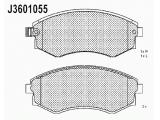 Комплект тормозных колодок, дисковый тормоз  Колодки тормозные HYUNDAI ELANTRA/MATRIX/SONATA передние  Толщина [мм]: 17 Высота [мм]: 53 Длина [мм]: 137