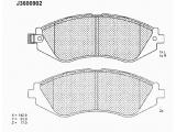 Комплект тормозных колодок, дисковый тормоз  Колодки тормозные DAEWOO NUBIRA >99/CHEVROLET REZZO 1.6/1.8/2.0 0  Толщина [мм]: 17 Высота [мм]: 51 Длина [мм]: 142,8