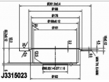 Тормозной диск  Диск тормозной MITSUBISHI LANCER 00>/OUTLANDER 03>08 (R14) задний  Диаметр [мм]: 262 Высота [мм]: 60,2 Тип тормозного диска: полный Толщина тормозного диска (мм): 10 Минимальная толщина [мм]: 8,4 Количество отверстий: 5 Ø фаски 2 [мм]: 114,3 Диаметр ступицы [мм]: 182 Диаметр центрирования [мм]: 90