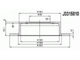 Тормозной диск  Диск тормозной MITSUBISHI LANCER 1.3/1.6/2.0 01>/GALANT 1.8/2.0 9  Диаметр [мм]: 262 Высота [мм]: 60,2 Тип тормозного диска: полный Толщина тормозного диска (мм): 10 Минимальная толщина [мм]: 8,4 Количество отверстий: 4 Ø фаски 2 [мм]: 114,3 Динамика тормоза / движения: для противоблокировочного устройства Диаметр ступицы [мм]: 182 Диаметр центрирования [мм]: 90
