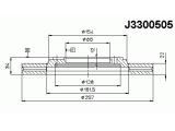 Тормозной диск  Диск торм. HYUNDAI ELANTRA 1.6 2.0CRDI 03- пер. вент.  Диаметр [мм]: 257 Высота [мм]: 33,8 Тип тормозного диска: с внутренней вентиляцией Толщина тормозного диска (мм): 22 Минимальная толщина [мм]: 20 Количество отверстий: 4 Ø фаски 2 [мм]: 104 Диаметр ступицы [мм]: 154 Диаметр центрирования [мм]: 86
