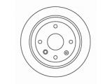 Тормозной диск  Торм.диск зад.[258 x 10.5] 4 отв.[min 2]  Диаметр [мм]: 258 Высота [мм]: 57,9 Тип тормозного диска: полный Толщина тормозного диска (мм): 10,5 Минимальная толщина [мм]: 8 Диаметр центрирования [мм]: 59,5 Число отверстий в диске колеса: 4