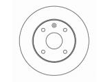 Тормозной диск  Диск тормозной CHEVROLET LACETTI 1.4/1.6/1.8 04> передний вентили  Диаметр [мм]: 256 Высота [мм]: 47,4 Тип тормозного диска: вентилируемый Толщина тормозного диска (мм): 24,0 Минимальная толщина [мм]: 22 Диаметр центрирования [мм]: 60 Число отверстий в диске колеса: 4