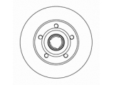 Тормозной диск  Диск торм зад A4 95-01 (DF2771)  Диаметр [мм]: 245 Высота [мм]: 83,5 Тип тормозного диска: полный Толщина тормозного диска (мм): 10,0 Минимальная толщина [мм]: 8 Число отверстий в диске колеса: 5 Дополнительный артикул / Доп. информация 2: без кольца сенсора ABS