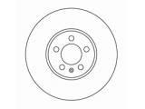 Тормозной диск  Диск торм пер вент G3/PASSAT VR6 (DF2758)  Диаметр [мм]: 288 Высота [мм]: 28,3 Тип тормозного диска: вентилируемый Толщина тормозного диска (мм): 25,0 Минимальная толщина [мм]: 23 Диаметр центрирования [мм]: 65 Число отверстий в диске колеса: 5