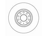 Тормозной диск  Диск тормозной AUDI A3/VOLKSWAGEN G5/PASSAT 05> передний вент.  Диаметр [мм]: 312 Высота [мм]: 50 Тип тормозного диска: вентилируемый Толщина тормозного диска (мм): 25,0 Минимальная толщина [мм]: 22 Диаметр центрирования [мм]: 65 Число отверстий в диске колеса: 5