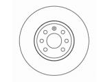 Тормозной диск  Диск торм пер вент ASTRA H/MERIVA 03-(DF4426)  Диаметр [мм]: 280 Высота [мм]: 44 Тип тормозного диска: вентилируемый Толщина тормозного диска (мм): 25,0 Минимальная толщина [мм]: 22 Диаметр центрирования [мм]: 60 Число отверстий в диске колеса: 4