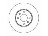 Тормозной диск  Диск тормозной KIA RIO 06> передний вент.  Диаметр [мм]: 256 Высота [мм]: 47 Тип тормозного диска: вентилируемый Толщина тормозного диска (мм): 22,0 Минимальная толщина [мм]: 20 Диаметр центрирования [мм]: 62 Число отверстий в диске колеса: 4