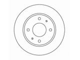 Тормозной диск  Диск торм пер вент ELANTRA/MATRIX (DF4158)  Диаметр [мм]: 257 Высота [мм]: 45,5 Тип тормозного диска: вентилируемый Толщина тормозного диска (мм): 24,0 Минимальная толщина [мм]: 22 Диаметр центрирования [мм]: 69 Число отверстий в диске колеса: 4